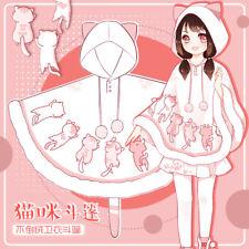 Japanese Kawaii Cat Ears Pullover Hooded Coat Sweatshirts Lolita Cloak Hot Zsell