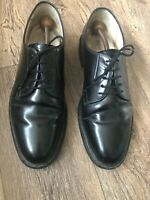 pierre cardin Black Leather Lace Up Goodyear Welted Sole 10.5 Black