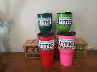 RTIC 30oz Stainless Steel Tumbler Rambler with Spill Proof Lid Insulated 30 oz