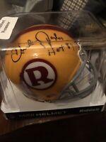 Charlie Taylor HOF 84 Signed Washington Redskins Mini Helmet w/COA Football Team