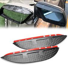 2Pcs 3D Carbon Fiber Texture Side Mirror Rain Snow Visor Shade Guard For Nissan