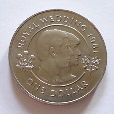 1981 Bermuda $1 coin Charles Diana Royal Wedding (a)