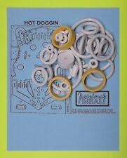 1980 Bally Hot Doggin' Hotdoggin pinball rubber ring kit