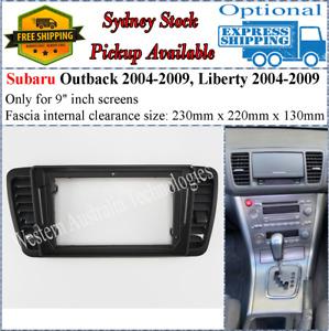 For 9 Nine Inch Screen Fascia facia Fits Subaru Liberty, Outback 2004-2009*