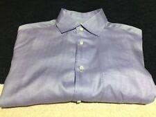 BORRELLI NAPOLI Lilac Lt. Purple Herringbone Dress Shirt XL ITALY 🇮🇹 (altered)