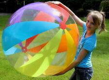 "48"" SUNSHINE 6 Color 12 Panel RAINBOW STRIPE Inflatable Glossy Vinyl BEACH BALL"