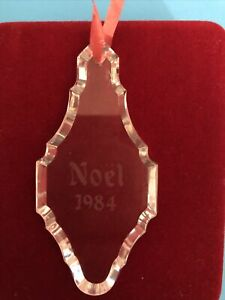 Baccarat 1984 Crystal Ornament
