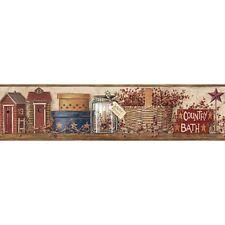 COUNTRY BATH WALLPAPER BORDER  BY YORK