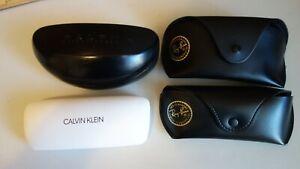 Lot 4 Designer Glasses Cases  Ray Ban,  Calvin Klein,  Ralph Loren Empty