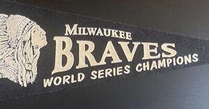 Milwaukee Braves World Series Champions Mitchell & Ness Baseball Pennant