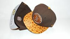(HB4) NEW ERA HAT CAP FITTED 59FIFTY BROOKLYN NETS NEW YORK BROWN SIZE 6 7/8