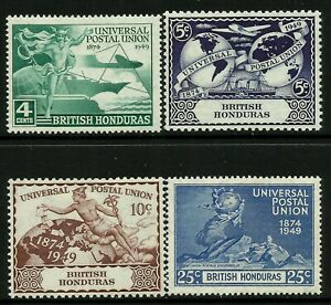 British Honduras 1949 UPU set Mint Lightly Hinged Fresh Gum