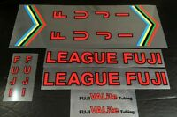 Fuji League Fuji Bicycle Decal Set in Red/Black (sku 10056)
