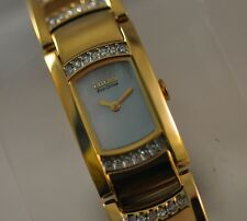 Ladies Citizen Eco Drive EG2732-51D Silhouette Goldtone Swarovski Bracelet Watch