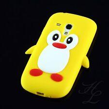Samsung Galaxy S3 mini i8190 Silikon Case Handy Schale Schutz Hülle Pinguin Gelb