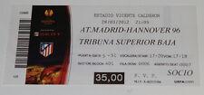 old TICKET EL Atletico Madrid Spain - Hannover 96 Germany