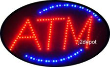 """US Seller Animated ATM Led Sign neon lighted. Video inside.  21""""x13-1/2"""""""