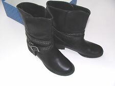 Boots Black Simply Vera Wang Size 6 Shoes NEW Womens Ankle VIX Buckle $99.99