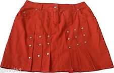 NEW JEAN PAUL GAULTIER JPG jeans skirt 44 JPG studded mini casual orange