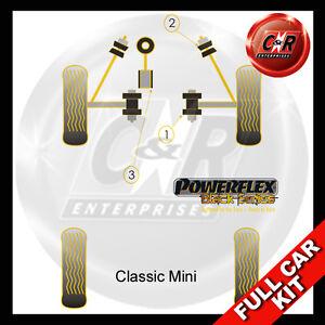 Fits Rover Mini Powerflex Black Complete Bush Kit