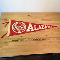 1950's Vintage University of Alabama Crimson Tide Full Size Pennant
