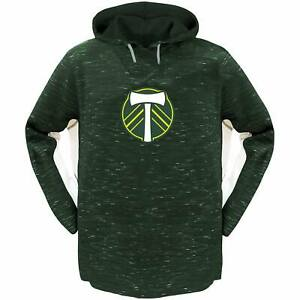 Portland Timbers Majestic Women's Plus Size Contrast Heathered Pullover Hoodie -