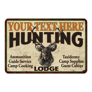 Personalized Hunting Lodge Metal Sign Custom Man Cave Garage Gift 108120015001