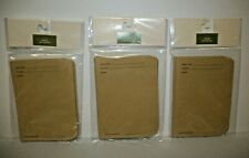 SEED PACKETS ENVELOPES  Brown Craft Paper Seed Storage 3 Pacakges    BRAND NEW