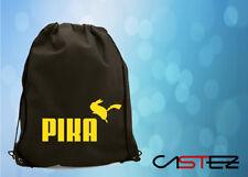 pika parodia puma pikachu pokemon  hippie saco mochila bolso bolsa