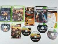 Mass Effect 1 2 3 Game Lot Bundle Xbox 360 Shooter EA Microsoft Video Games