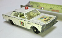 Vintage Lesney Matchbox No. 55 59 Ford Galaxie Police Car White England Cop Toy