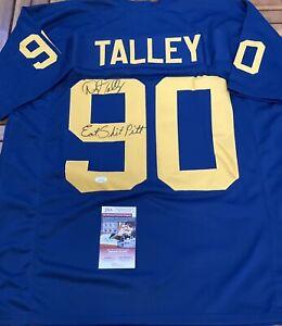 """🔥""""EAT SH#T PITT"""" Inscribed Signed By DARRYL TALLEY WEST VIRGINIA Jersey JSA"""
