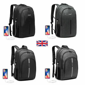 USB Charging Backpack Unisex Large Rucksack Oxford Travel School Laptop Bag