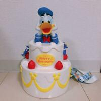 Tokyo Disneyland Donald Duck Popcorn Bucket Happy Birthday cake Disney Resort