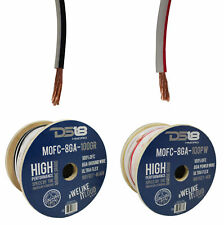 25Ft Power+25Ft Ground Ds18 8Ga Marine Ofc Tinned Copper Cable Wire