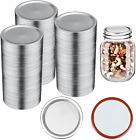 100 Pcs Wide Mouth Canning Lids - 86MM Mason Jar Canning Lids (Silver)