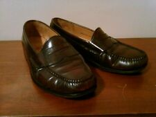 Vintage Cole Haan Moc Toe Leather Penny Loafers, Mahogany 9.5D Made in India