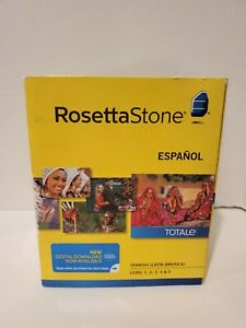NIB Rosetta Stone Spanish/Espanol (Latin America) Version 4 - Level 1-5