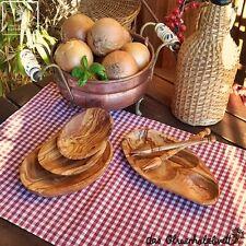 olivenholzschale Anti Pasti Tapas Set Madera de olivo Cuenco Madera olivas