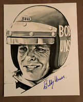 3 Time Indianapolis 500 Winner BOBBY UNSER Signed 8x10 Photo W/ Top Loader