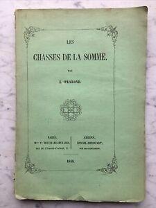 1858, «LES CHASSES DE LA SOMME» PRAROND Phoques EO 1858 Picardie Amiens Plan