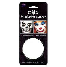 WHITE FACE PAINT 33oz Foundation Makeup Fancy Dress Theatre Halloween Skull Kids
