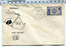 Navy #793 FDC on Folk-Art(?) mimeograph  / Ephemera unaddressed 9AM hand cancel