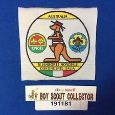 Boy Scout XVI World Jamboree 1987-88 Australia Italia Contingent Patch