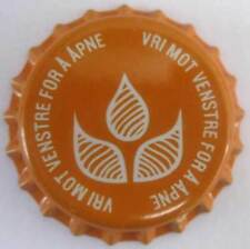 VRI MOT VENSTRE FOR A APNE Langt Stra Beer CROWN Bottle CAP Grans Brewery NORWAY
