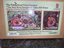 Fairy House Hobbit Bungalow... ROSSO APERTURA PORTA MAGICA Hillside Home