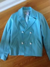 Girls Brooks Brothers Caribbean Blue Double Breasted Jacket - Girls L (10)-NWOT