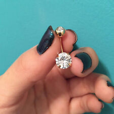 Piercing Cubic Zirconia Belly Button Fashion Gold Color Medical Navel