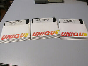 Ovga UN-O67 Utility Et Dogtooth Impression Vintage Disquette - 3 Disque Comme