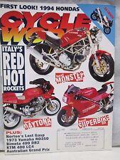 Cycle World Magazine July 1993 Ducati Monster M900 Superbike 888 Guzzi Daytona